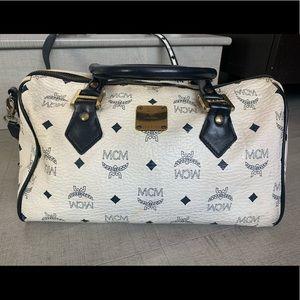 Mcm mini duffle bag